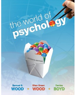 Test Bank (Download Only) for The World of Psychology, 7th Edition: Samuel E. Wood, 0205763731,9780205763733