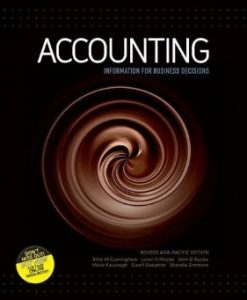 Test Bank (Download Only) for Accounting Information for Business Decisions, 1st Edition, Cunningham, 0170241319, 9780170241311