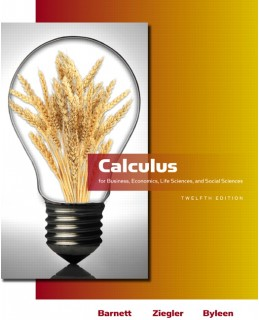Test Bank (Download Only) for Calculus for Business, Economics, Life Sciences & Social Sciences, 12th Edition, Raymond A. Barnett, 0321613996, 9780321613998