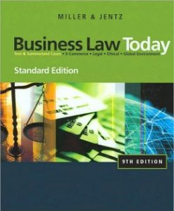 Test Bank (Download Only) for Business Law Today, Standard Edition, 9th Edition, Roger L. Miller, 0324786522, 9780324786521