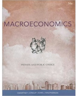 Test Bank (Download Only) for Macroeconomics: Public and Private Choice, 14th Edition, James D. Gwartney, 1111970629, 9781111970628