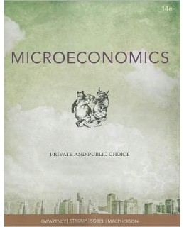 Test Bank (Download Only) for Microeconomics: Public and Private Choice, 14th Edition, James D. Gwartney, 1111970610, 9781111970611