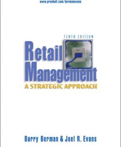 Test Bank (Download Only) for Retail Management A Strategic Approach, 10th Edition, Berman, 8120330420, 9788120330429
