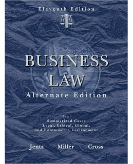 Test Bank (Download Only) for West's Business Law, Alternate Edition, 10th Edition, Gaylord A. Jentz, 0324364989, 9780324364989