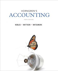 Solution Manual (Download Only) for  Horngren's Accounting
