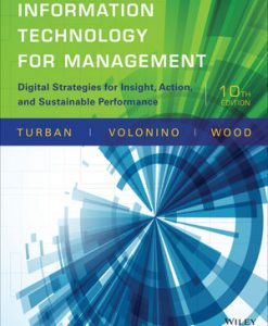 Test Bank (Download Only) for  Information Technology for Management: Digital Strategies for Insight