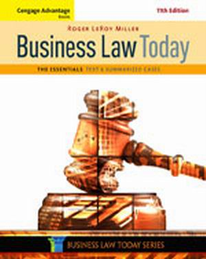 Test Bank (Download Only) for  Business Law Today