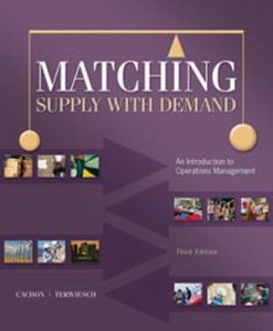 Solution Manual forMatching Supply with Demand, 3/e, Cachon