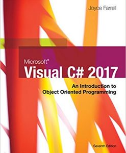 Solution Manual forMicrosoft Visual C#: An Introduction to Object-Oriented Programming, 7/e, Farrell