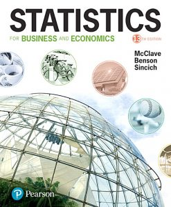 Test Bank forStatistics for Business and Economics, 13/e, McClave