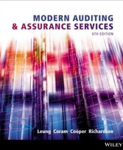 Solution Manual (Download Only) for Modern Auditing and Assurance Services, 6/e, Leung
