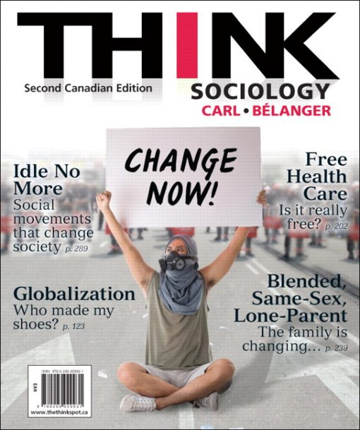 Test Bank for THINK Sociology Second Canadian Edition 2e Carl