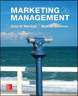 Test Bank for Marketing Management 2e By Marshall
