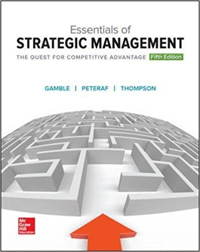 Test Bank for Essentials of Strategic Management: The Quest for Competitive Advantage 5e by Gamble
