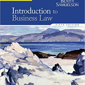 Test Bank for Introduction to Business Law 5e Beatty