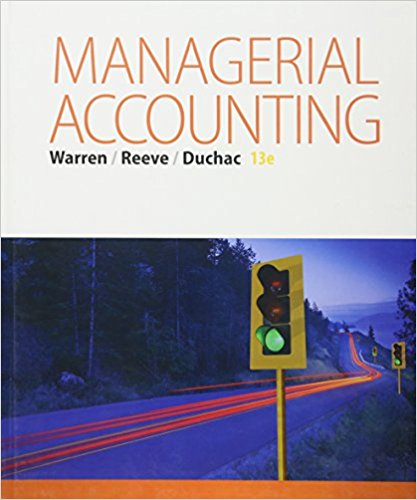 Solution Manual for Managerial Accounting 13e Warren
