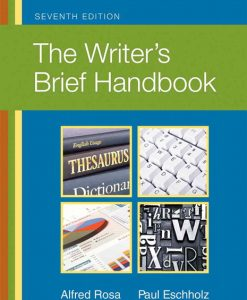 Test Bank for The Writer's Brief Handbook 7e Rosa