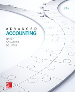 Solution Manual for Advanced Accounting 13e Hoyle