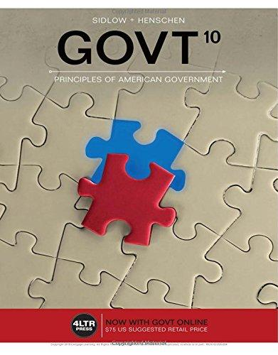 Test bank for GOVT7 10th Edition by Sidlow