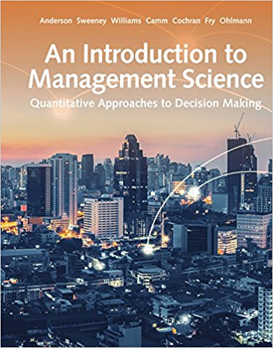 solution to management science by anderson Instructor solution manual files are different with what you have seen till now as student solution manuals instructor solution manuals are only available to professors and instructors who are teaching a related course in united states universities testbanksolutionmanualcom provides students with a.
