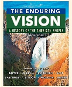 Solution manual for The Enduring Vision 9th Edition by Boyer