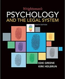 Test bank for Wrightsman's Psychology and the Legal System 9th Edition by Greene