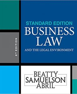 Solution manual for Business Law and the Legal Environment 8th Edition by Beatty