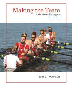 Solution Manual For Making the Team: A Guide for Managers, 6th Edition By Leigh Thompson,ISBN-13:9780134484235