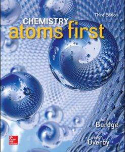 Solution Manual (Download Only) For Chemistry Atoms First 3rd Edition By Julia Burdge,Jason Overby, ISBN10 1259638138,ISBN 13 9781259638138
