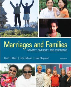 Solution Manual (Download Only) for Marriages and Families Intimacy, Diversity, and Strengths 9th Edition By David Olson,John DeFrain,Linda Skogrand,ISBN10 1259914291,ISBN13 9781259914294