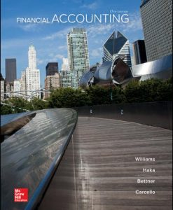 Solution Manual (Download Only) for Financial Accounting 17th Edition By Jan Williams, Susan Haka, Mark Bettner, Joseph Carcello, ISBN 10: 1259692396, ISBN 13: 9781259692390